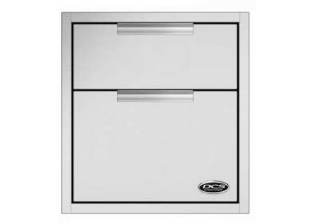 DCS Brushed Stainless Steel Outdoor Double Storage Tower Drawers  - TDD120