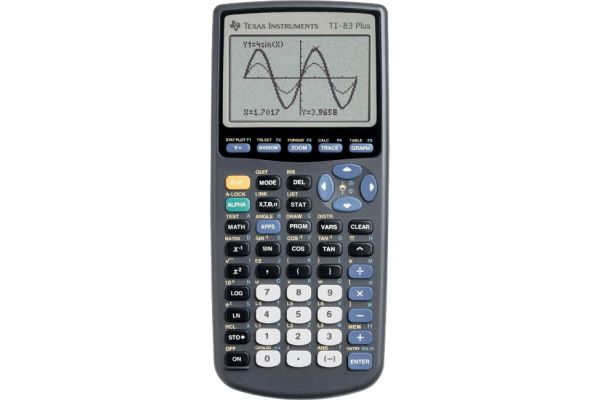 Large image of Texas Instruments 83 Plus Graphics Calculator - 83PL/CLM/1L1/G