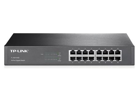 TP-Link 16-Port Gigabit Desktop/Rackmount Switch - TL-SG1016D
