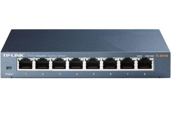 Large image of TP-Link 8-Port 10/100/1000Mbps Desktop Switch  - TLSG108