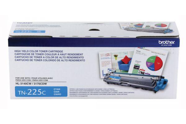 Brother High Yield Cyan Ink Toner Cartridge - TN225C