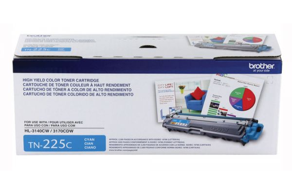Large image of Brother High Yield Cyan Ink Toner Cartridge - TN225C