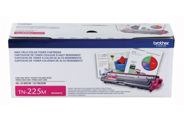 Brother High Yield Magenta Ink Toner Cartridge - TN225M