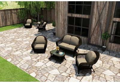 Parrot Island - TOB-4SS-SB-MS - Patio Seating Sets