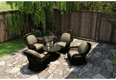 Parrot Island - TOB-5CH-SB-MS - Patio Seating Sets