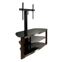 BellO Triple Play Universal Flat Panel Dark Espresso TV Mounting Stand