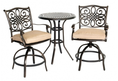 Hanover - TRADDN3PCSW-BR - Patio Furniture