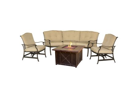 "Hanover Traditions 4-Piece Chat Set With 40"" Fire Pit  - TRADDURA4PCFP"