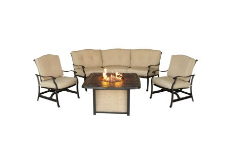 Hanover Traditions 4-Piece Outdoor Lounge Set With Cast-Top Fire Pit  - TRADITIONS4PCFP