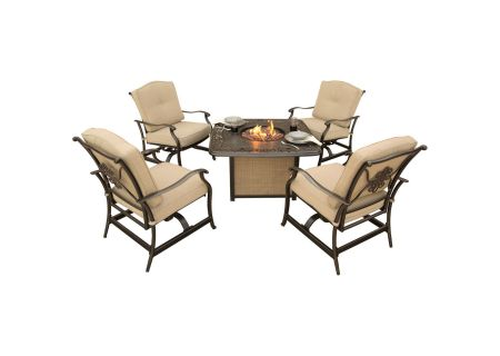Hanover Traditions 5-Piece Outdoor Lounge Set With Cast-Top Fire Pit  - TRADITIONS5PCFP
