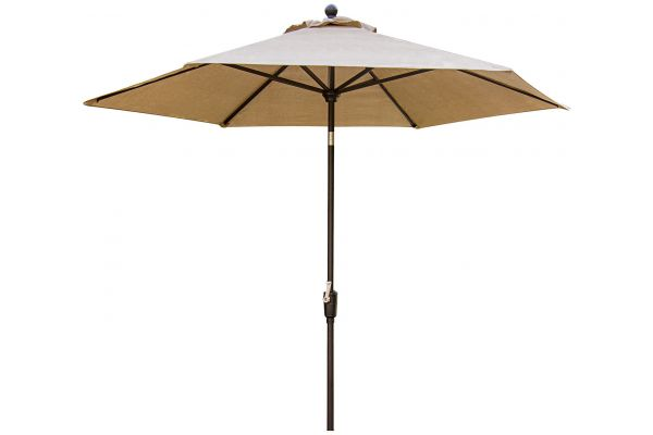 Large image of Hanover Brown Traditions 9 Tiltable Umbrella - TRADITIONSUMB