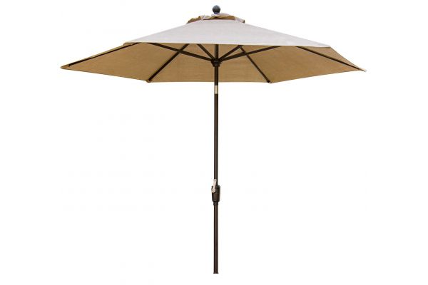 Large image of Hanover Traditions Natural Oat 11 Ft. Table Umbrella - TRADUMB-11