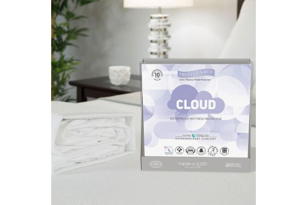 Large image of Protect-A-Bed King Cloud Extra-Soft Tencel Waterproof Mattress Pad Protector - TSC0142