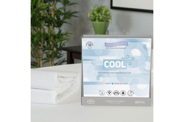 Large image of Protect-A-Bed King Cool Moisture-Wicking Tencel Waterproof Mattress Pad Protector - 83502-6220