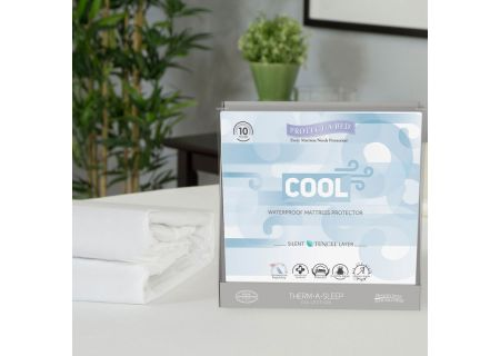 Protect-A-Bed Split California King Cool Moisture-Wicking Tencel Waterproof Mattress Pad Protector - TSP0159S