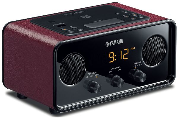 Large image of Yamaha Dark Red Desktop Audio System - TSX-B72DR
