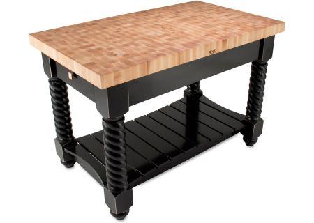 John Boos Black Tuscan Isle Cutting Board With Shelf - TUSI5432225EG-BK