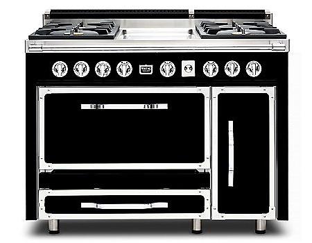 Viking 48 black tuscany dual fuel range tvdr4804ggb for Viking 48 dual fuel range