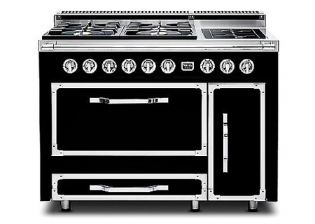 "Viking Tuscany Series 48"" Pro-Style Graphite Black Dual Fuel Range - TVDR4804IGB"