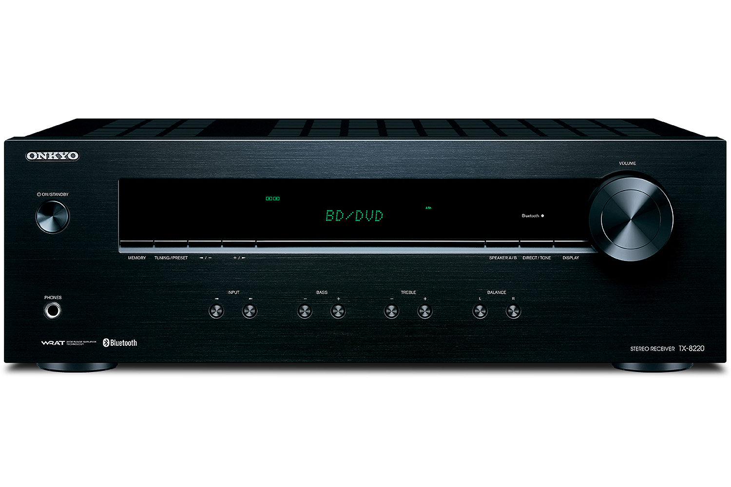 Onkyo Black Stereo Receiver With Bluetooth Tx 8220