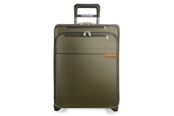 Large image of Briggs & Riley Olive International Carry-On Expandable Wide-Body Upright  - U121CXW-7