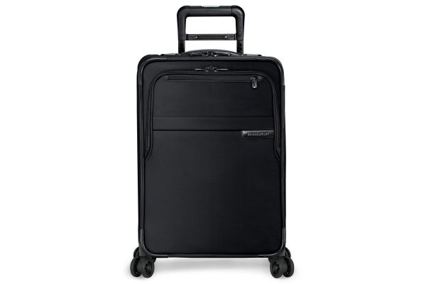 Large image of Briggs & Riley Black Domestic Carry-On Expandable Spinner - U122CXSP-4
