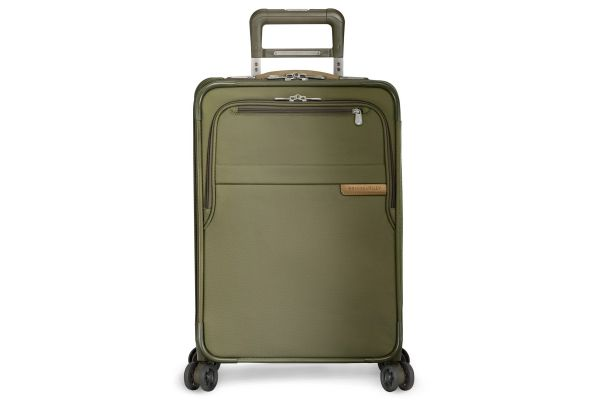 Large image of Briggs & Riley Olive Domestic Carry-On Expandable Spinner - U122CXSP-7
