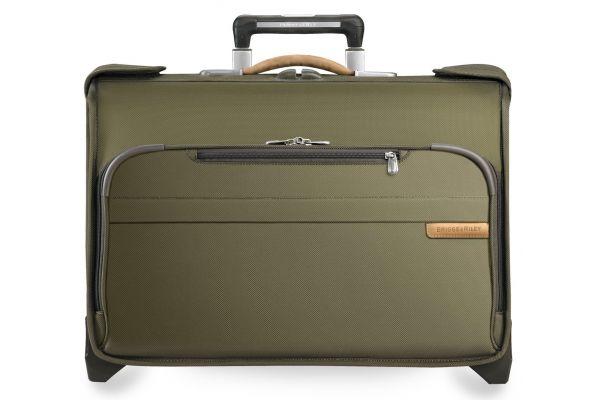 Large image of Briggs & Riley Olive Carry-On Wheeled Garment Bag  - U174-7