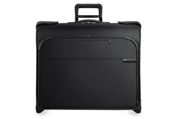 Large image of Briggs & Riley Black Deluxe Wheeled Garment Bag  - U176-4