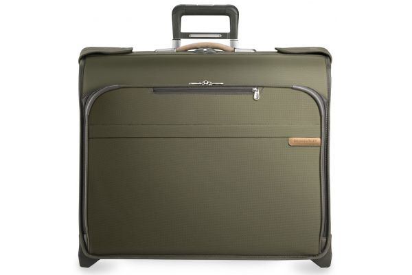 Briggs & Riley Olive Deluxe Wheeled Garment Bag  - U176-7
