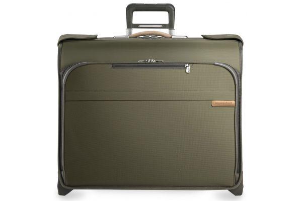 Large image of Briggs & Riley Olive Deluxe Wheeled Garment Bag  - U176-7