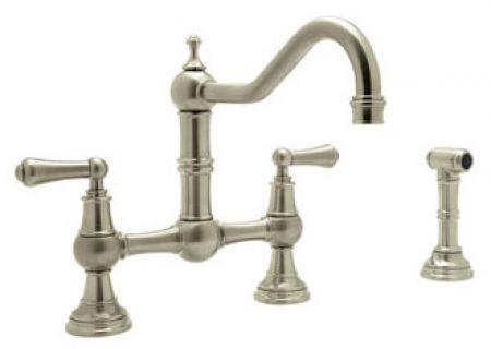 Rohl Perrin Rowe Kitchen Collection Bridge Satin Nickel Faucet U 4756l