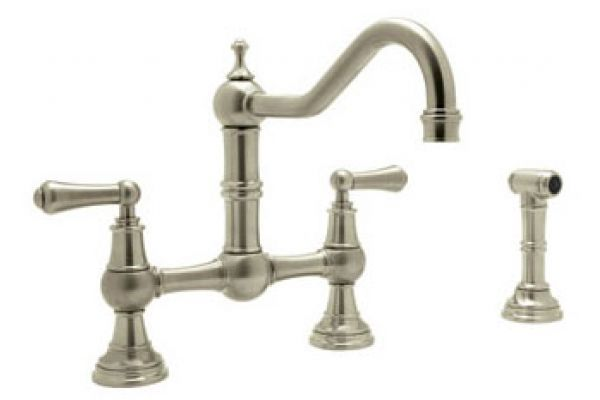 Rohl Perrin & Rowe Kitchen Collection Bridge Satin Nickel Kitchen Faucet  - U.4756L