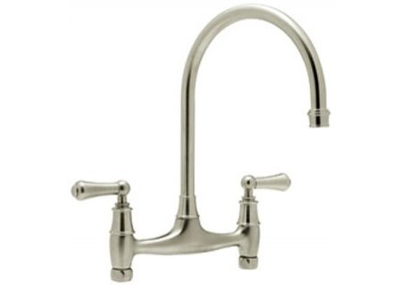 Rohl Satin Nickel Perrin & Rowe Bridge Kitchen Faucets - U.4791L-2/STN