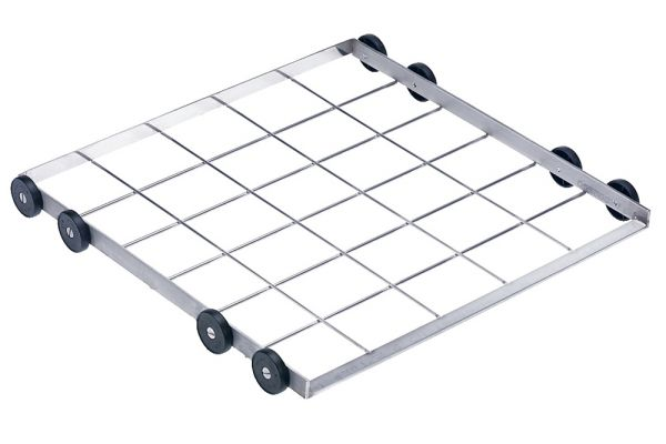 Large image of Miele Stainless Steel Lower Basket Carrier - 67187501D