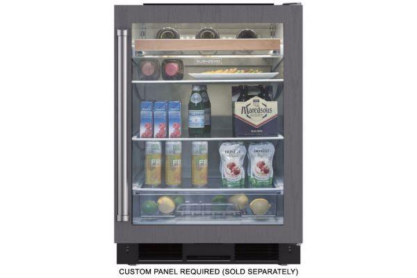 "Sub-Zero 24"" Undercounter Right Hinged Panel Ready Beverage Center - UC-24BG/O-RH"