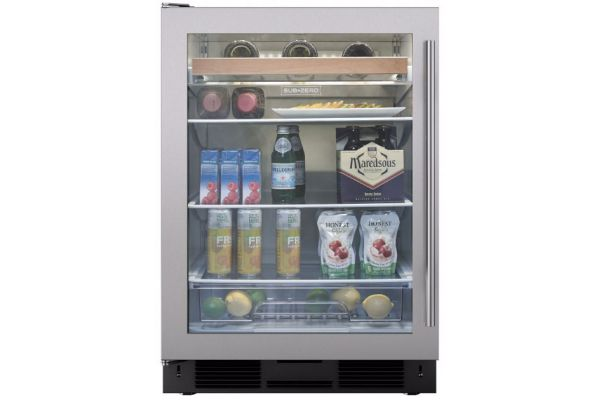 "Sub-Zero 24"" Undercounter Left Hinged Beverage Center - UC-24BG/S/TH-LH"