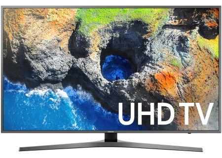 """Samsung 65"""" Silver UHD 4K HDR LED Smart HDTV - UN65MU7000FXZA"""