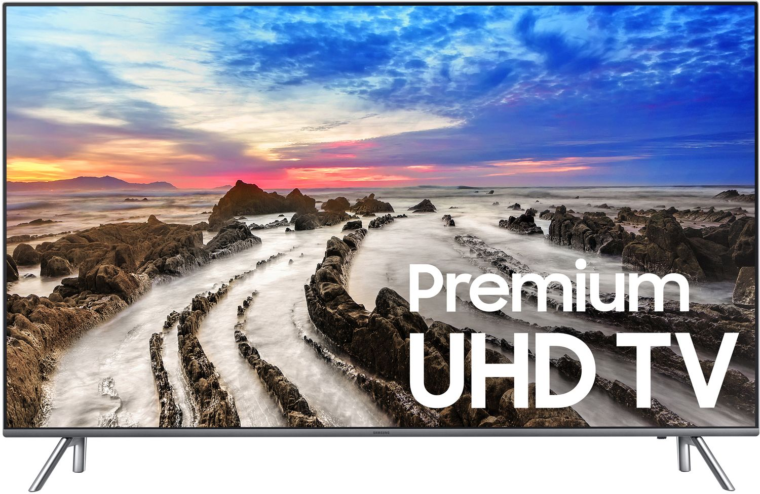 samsung 82 black uhd 4k led smart hdtv un82mu8000fxza. Black Bedroom Furniture Sets. Home Design Ideas