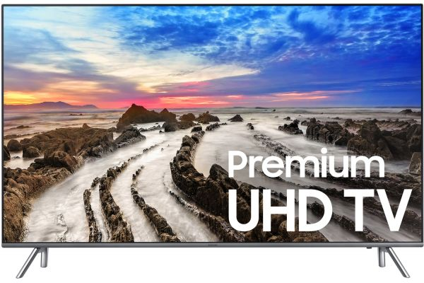 """Samsung 65"""" Silver UHD 4K HDR LED Smart HDTV - UN65MU8000FXZA"""
