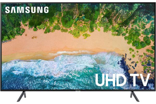 "Samsung 50"" Charcoal Black UHD 4K HDR LED Smart HDTV - UN50NU7100FXZA"