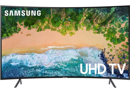 "Samsung 65"" Curved Charcoal Black UHD 4K HDR LED Smart HDTV - UN65NU7300FXZA"