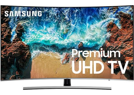 "Samsung 65"" Silver Curved UHD 4K HDR LED Smart HDTV - UN65NU8500FXZA"