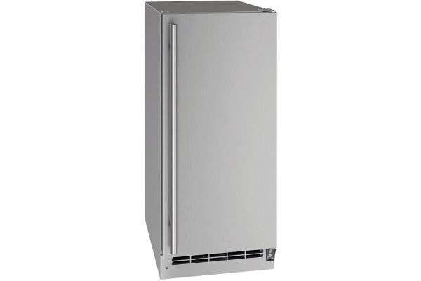 "Large image of U-Line 15"" Stainless Steel Outdoor Refrigerator - UORE115-SS01A"