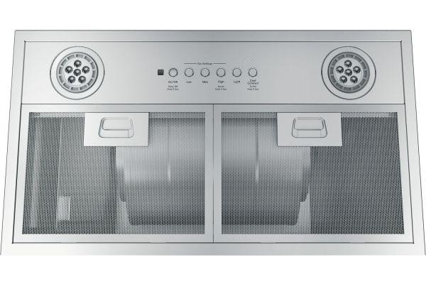 "Large image of GE 30"" Stainless Steel Custom Hood Insert - UVC7300SLSS"