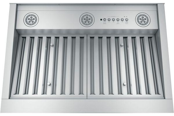 """Large image of GE 30"""" Stainless Steel Designer Custom Hood Insert - UVC9300SLSS"""