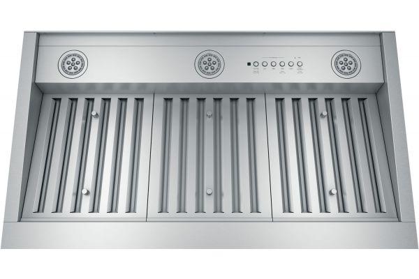 """Large image of GE 36"""" Stainless Steel Designer Custom Hood Insert - UVC9360SLSS"""