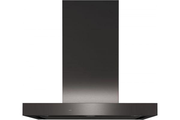 "Large image of GE 30"" Black Stainless Designer Wall Mount Hood - UVW9301BLTS"