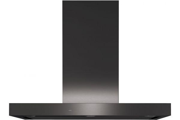 "Large image of GE 36"" Black Stainless Designer Wall Mount Hood - UVW9361BLTS"