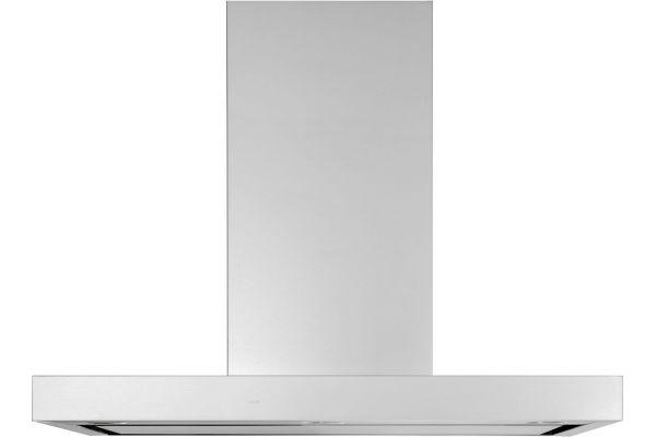 "Large image of GE 36"" Stainless Steel Designer Wall Mount Hood - UVW9361SLSS"